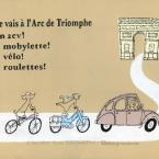 パリに行こう!シトロエンで、モビレットゥで、自転車で、ローラーブレードで