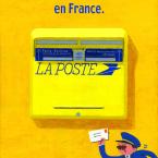 フランスのポストは黄色だよ