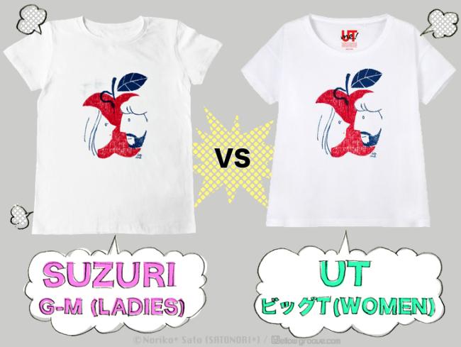 SUZURI-T vs UT
