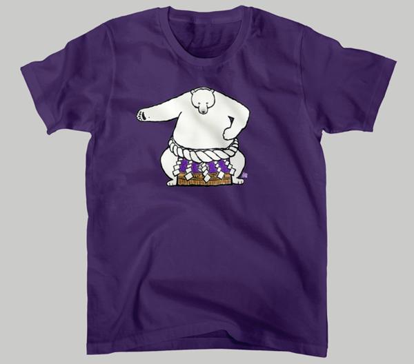 白熊山(雲竜型)Tシャツ カラー:パープル画像