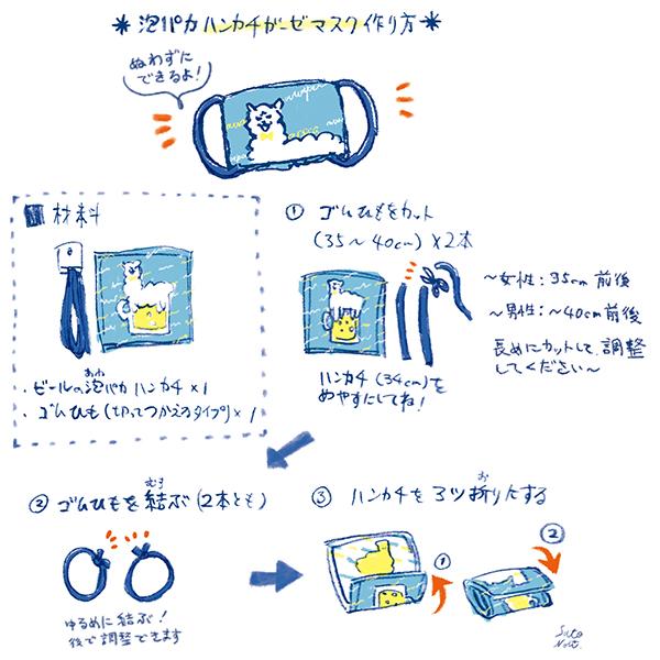 泡パカガーゼハンカチマスク作り方01