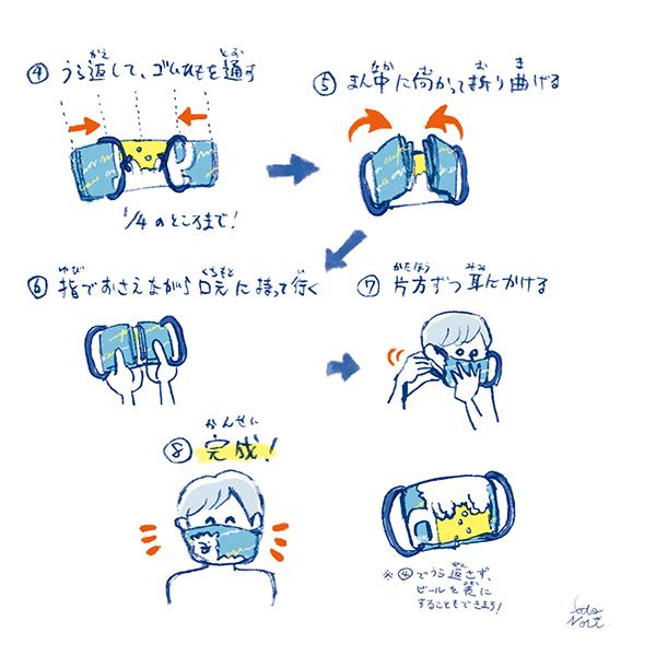 泡パカガーゼハンカチマスク作り方02