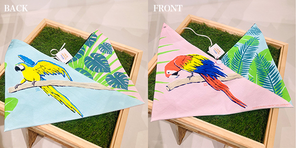 AzumaBag「アカコンゴウインコ&ルリコンゴウインコ」Blue-and-yellow macaw and blue-and-yellow macaw